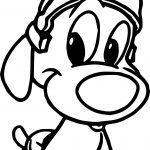 Warner Bros Baby Looney Tunes Cute Dog Coloring Page
