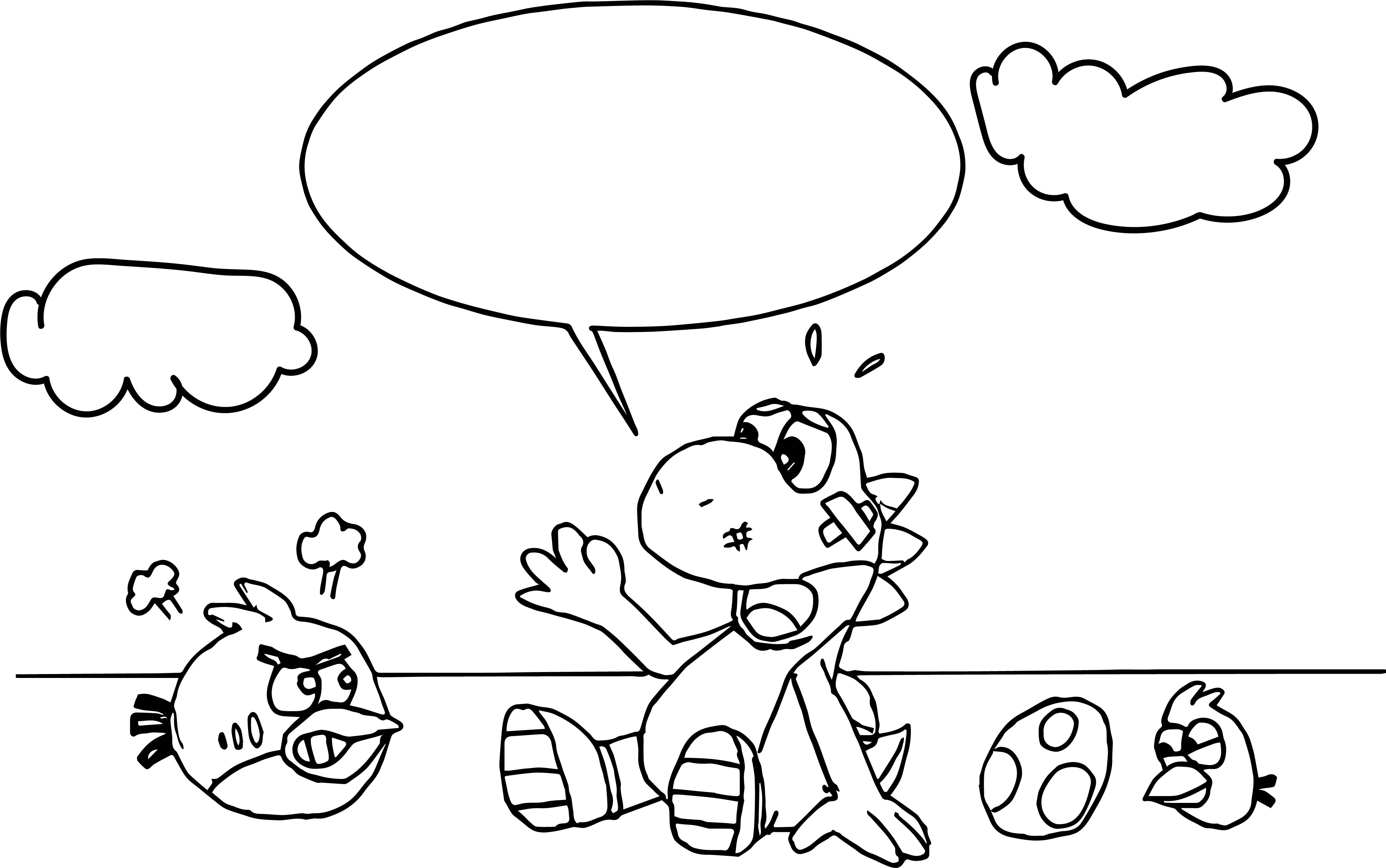 Yoshi And The Angry Birds Coloring Page