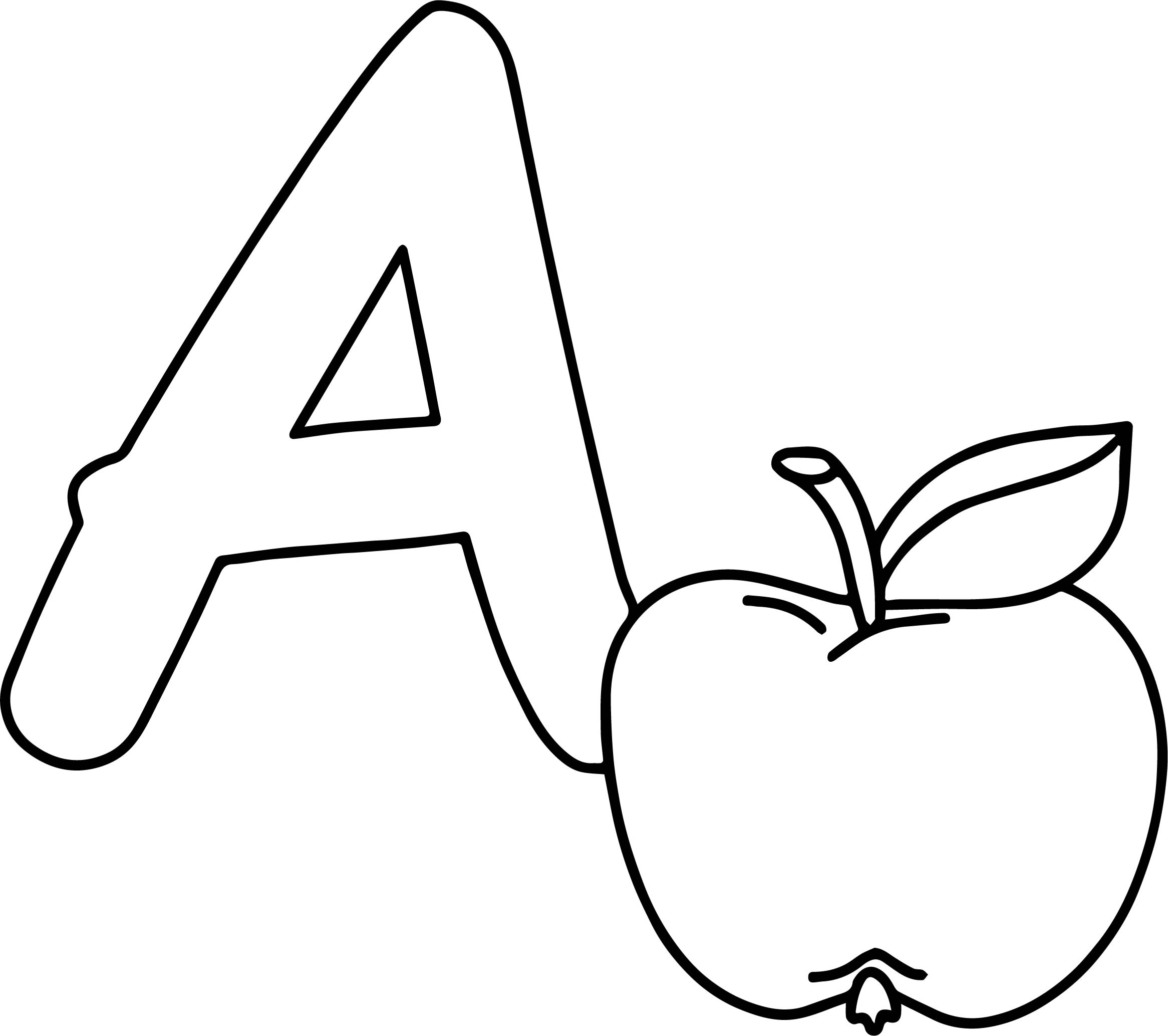 A Is For Apple Buchstaben Coloring Page