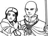 Aang And Katara's Future Avatar Aang Coloring Page