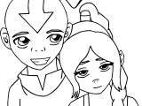 Aang And Tylee Commission Avatar Aang Coloring Page