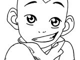 Aang Avatar Smile Aang Coloring Page