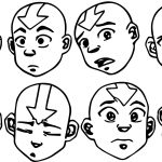 Aang Face Studies Avatar Aang Coloring Page