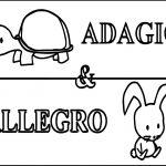 Adagio Allegro Tortoise Turtle Coloring Page