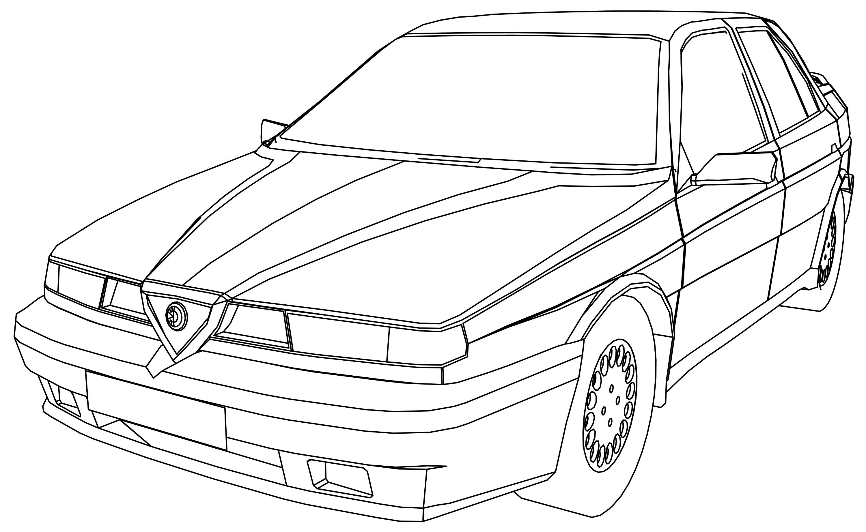 Alfa 155 Car Coloring Page