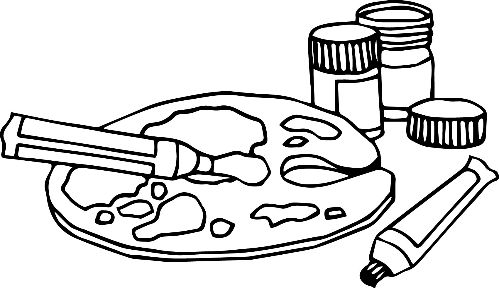 paint coloring pages - all art painting coloring pages