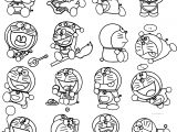 All Doraemon Series And Poses Coloring Pages