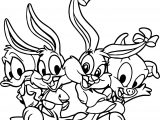 All Looney Tunes Teen Baby Coloring Page