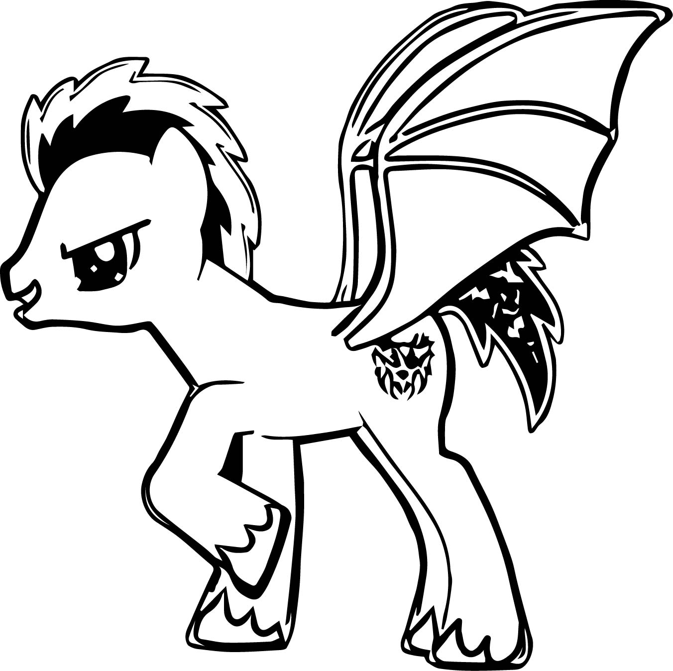 American Dragon Pony Coloring Page
