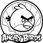 Angry Bird Circle Coloring Page