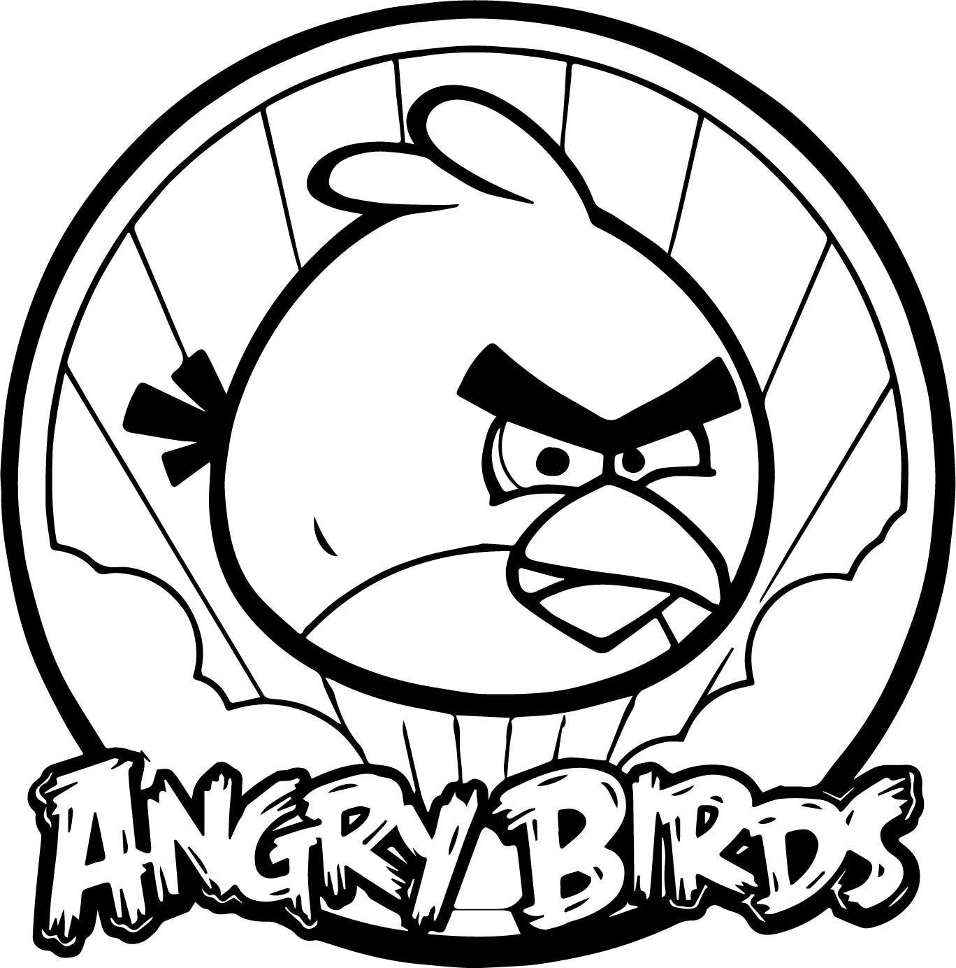 Angry Bird Circle Coloring Page