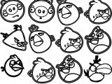 Angry Bird Pattern Coloring Page