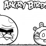 Angry Birds And Pig War And Love Coloring Page