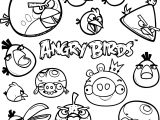 Angry Birds Set Coloring Page