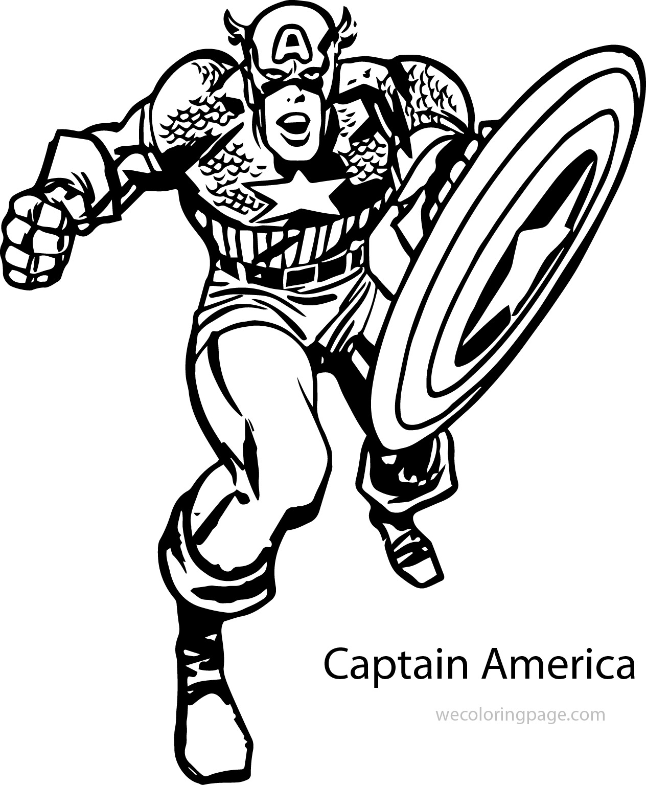 Angry Captain America Coloring Pages