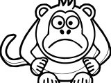 Angry Cartoon Baboon Coloring Page