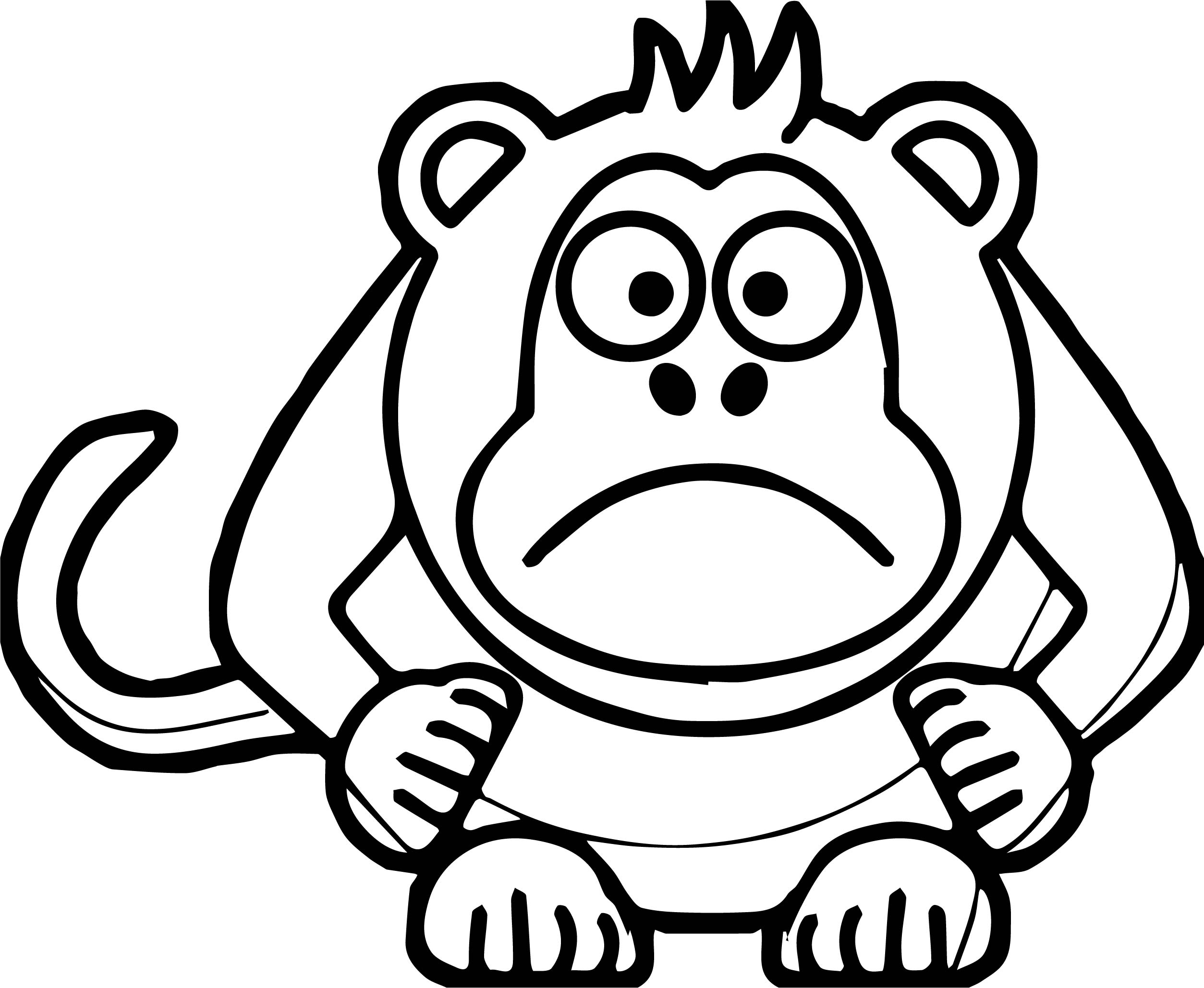 Angry cartoon baboon coloring page for Baboon coloring pages