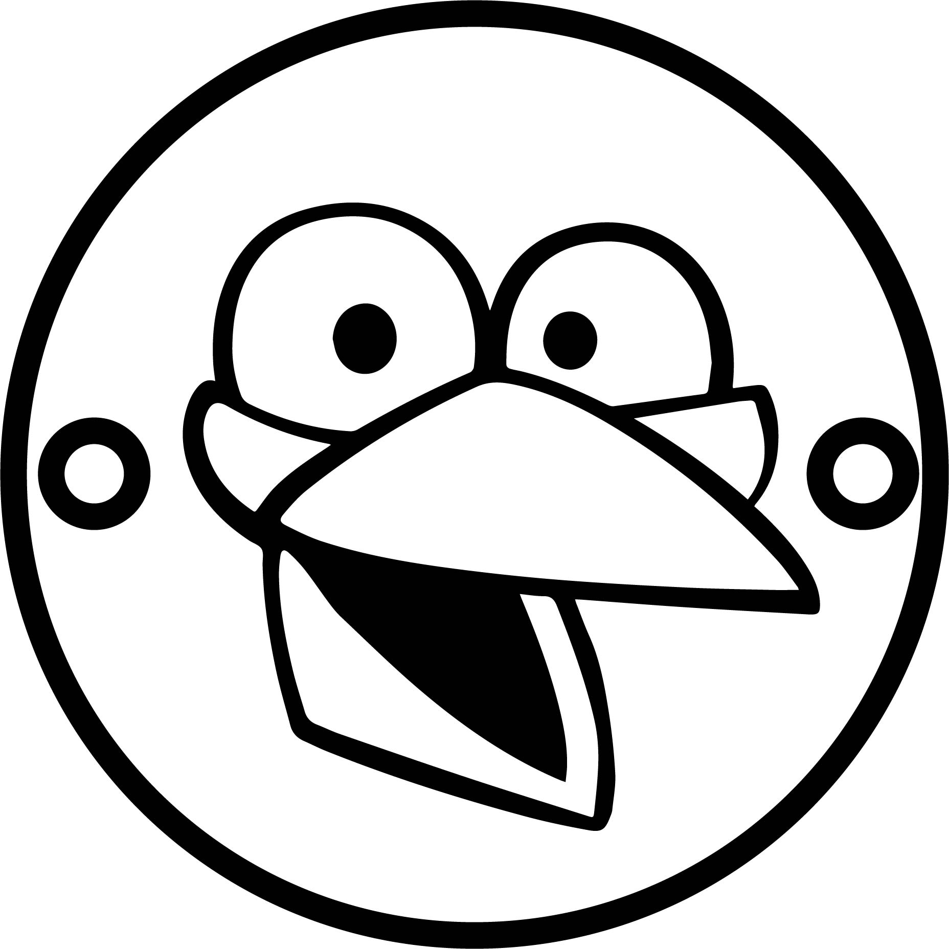 Angry Cute Birds Mask Coloring Page