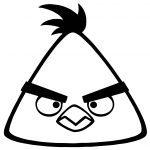 Angry Yellow Bird Coloring Page