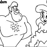 Animaniacs Adam And Eve Coloring Page
