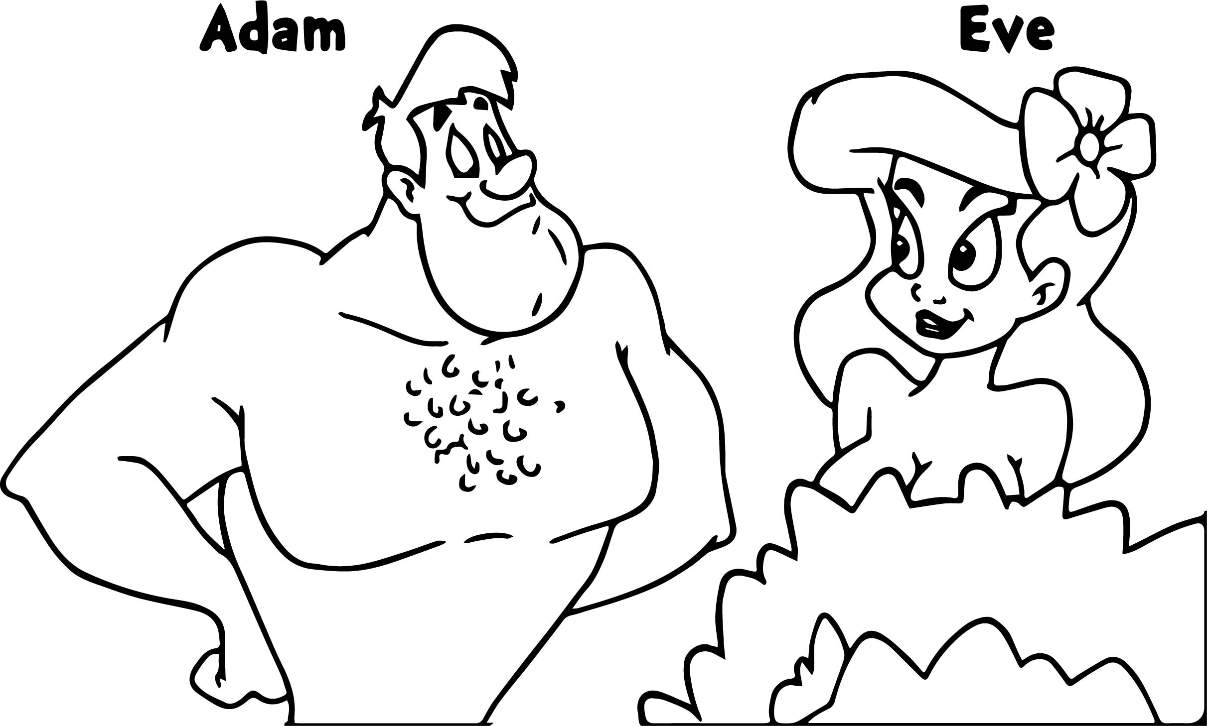animaniacs adam and eve coloring page - Adam And Eve Coloring Page