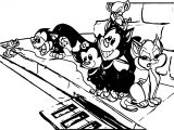 Animaniacs Cats At Street Coloring Page
