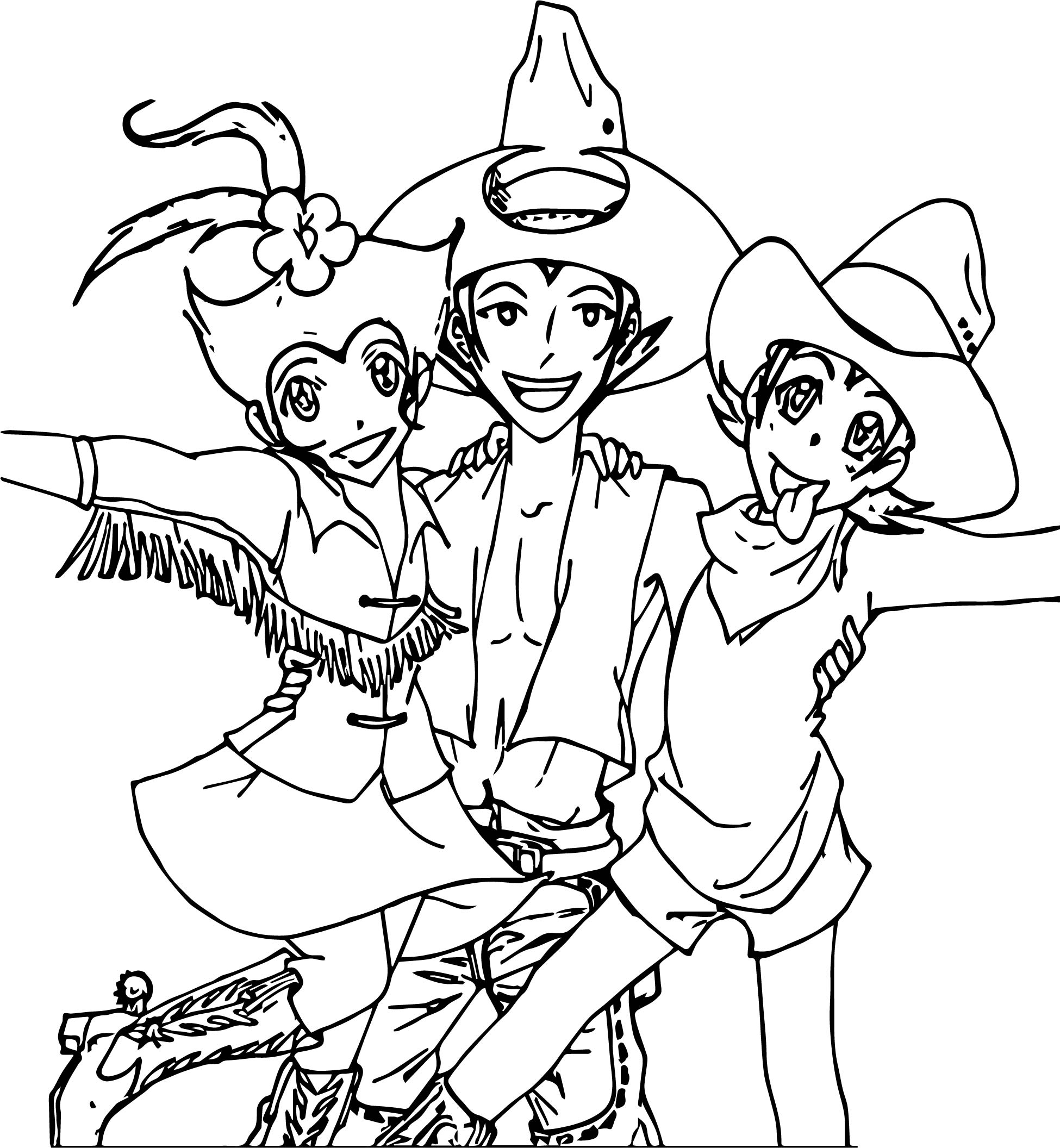 Animaniacs cowboys coloring pafge wecoloringpage for Animaniacs coloring pages
