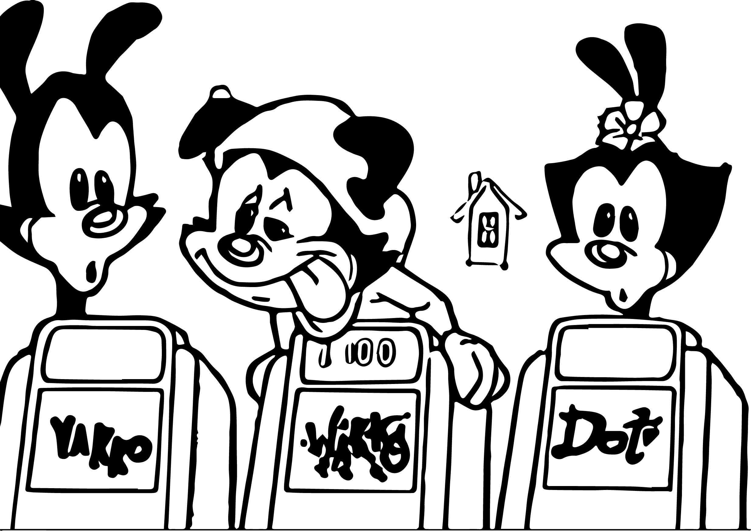 Animaniacs Education Feature Image Coloring Page