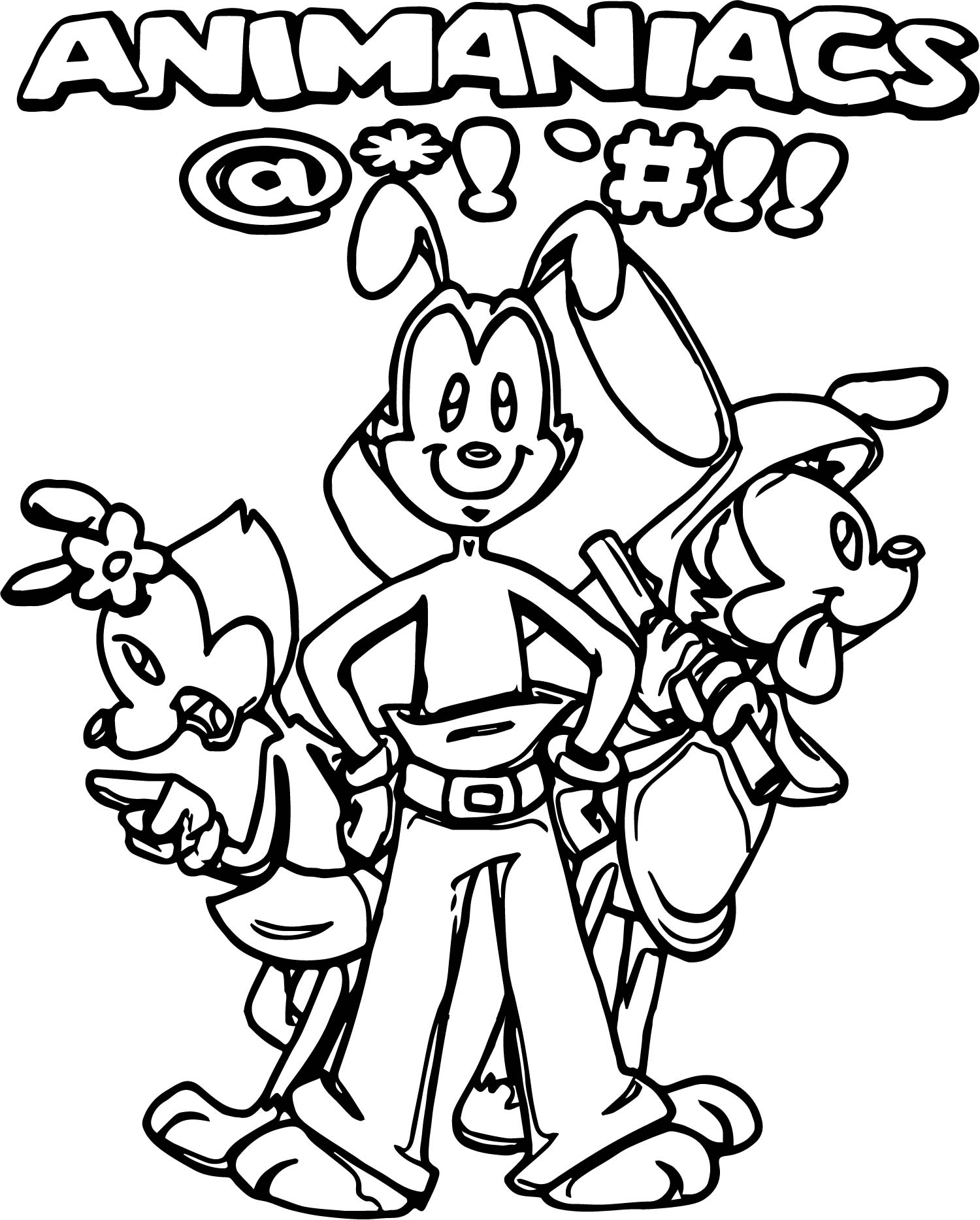 Animaniacs Fighting Game Coloring Page