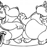Animaniacs Hippo Coloring Page