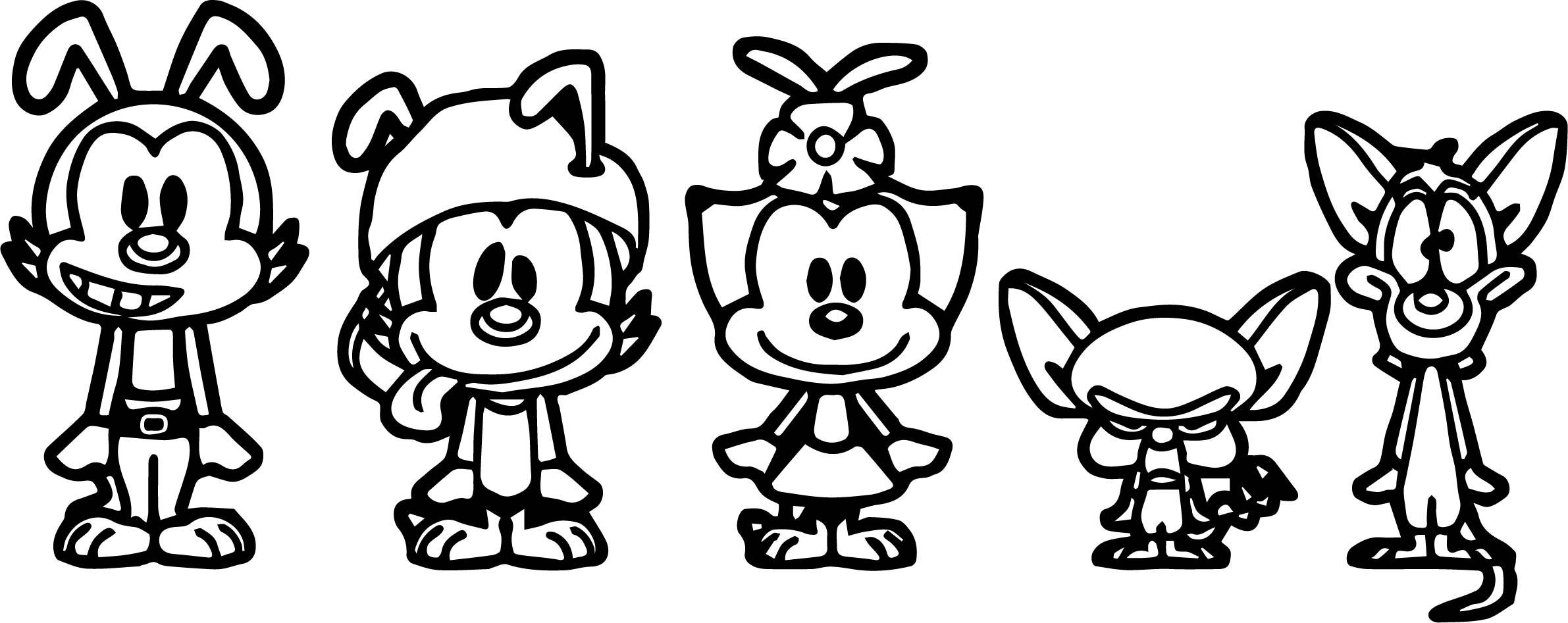 Animaniacs Pacs Chibi Coloring Page