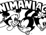 Animaniacs Three Head Coloring Page