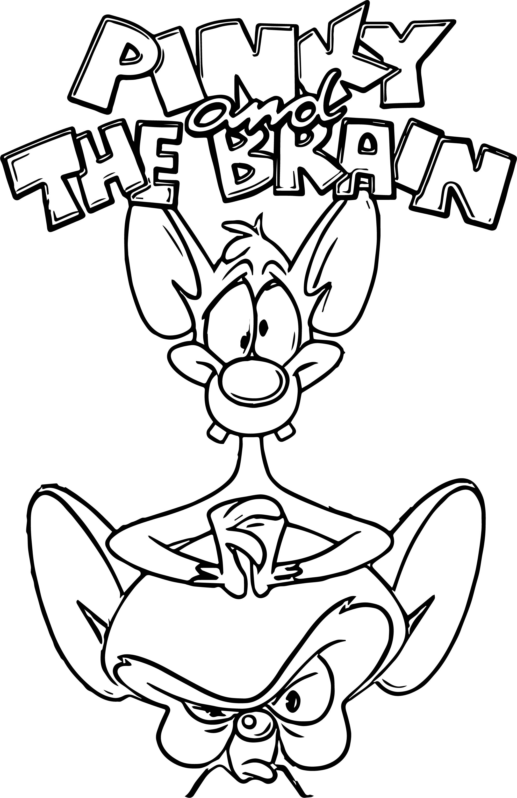 animaniacs volume pinky the brain coloring page - Brain Coloring Page