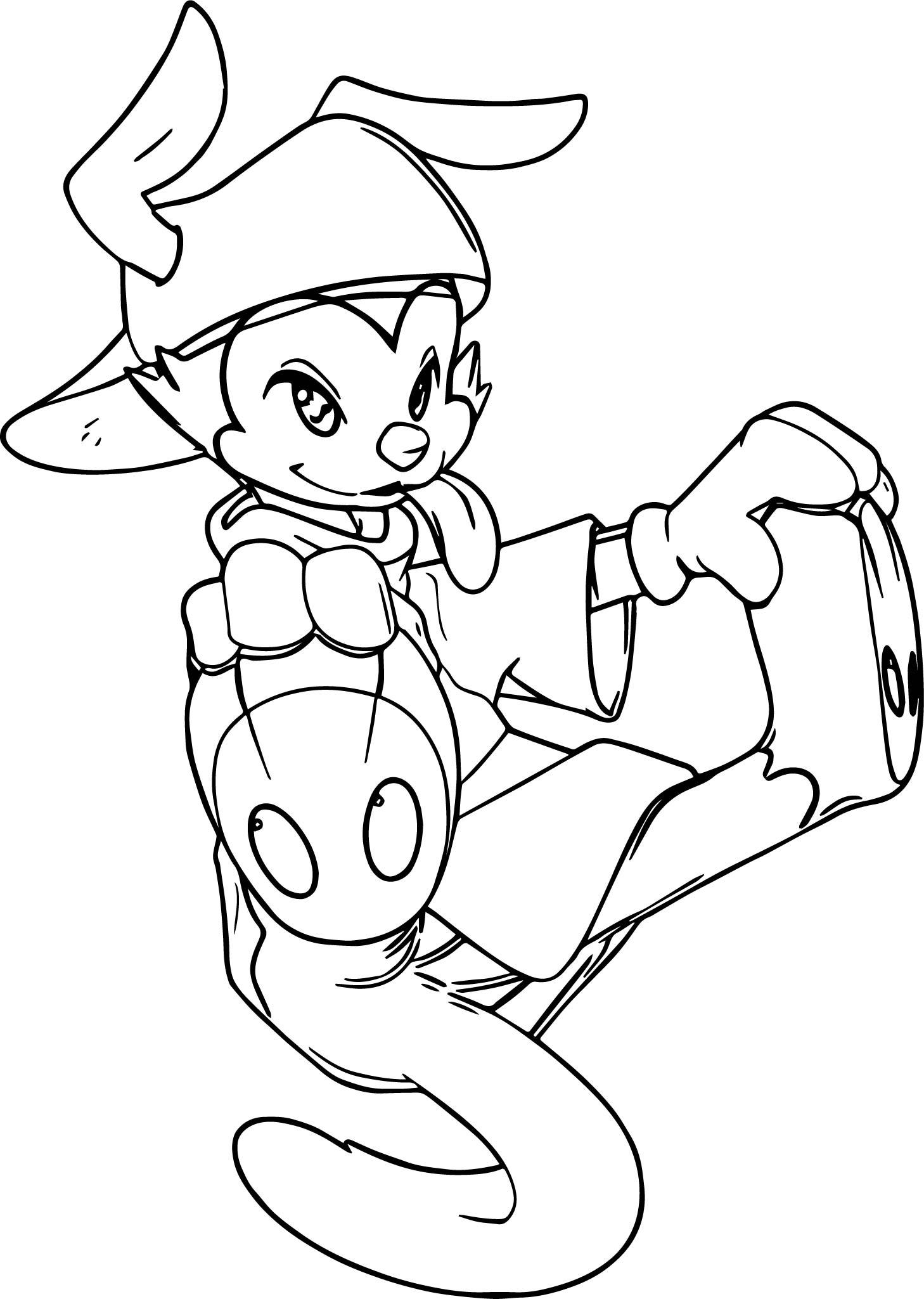Animaniacs Wakko Jump Coloring Page