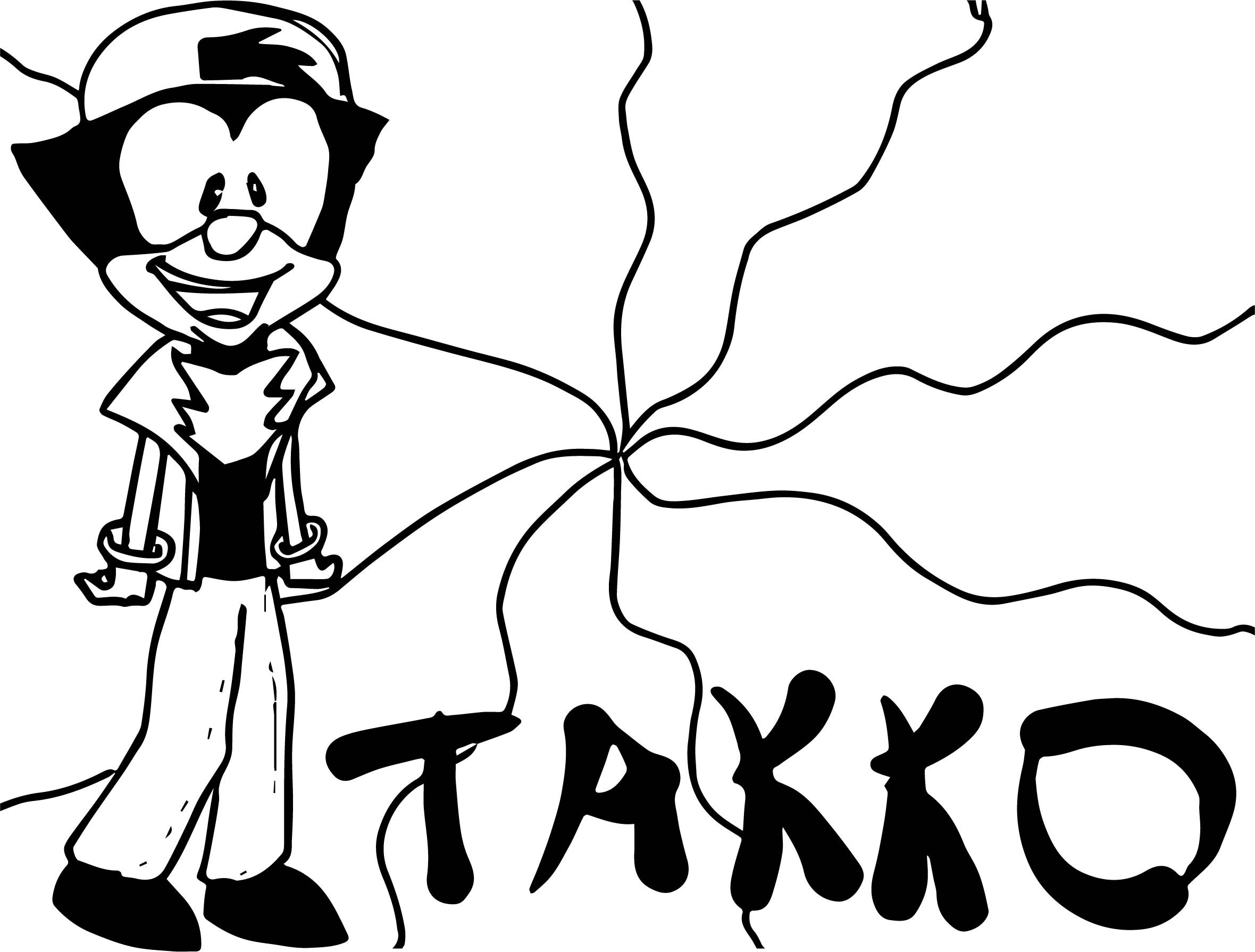 Animaniacs wallpaper takko cranidos toad coloring page for Animaniacs coloring pages