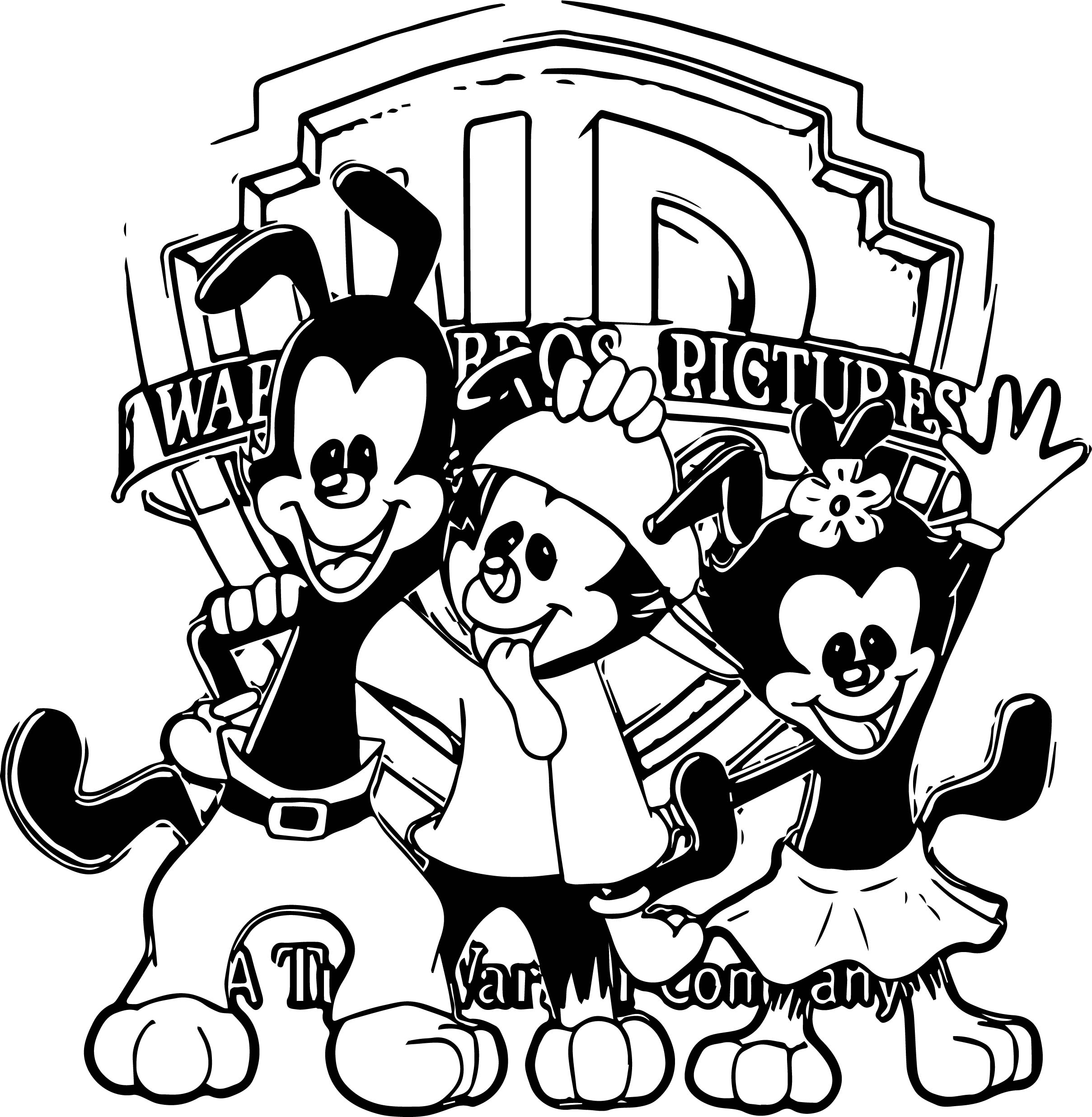 Animaniacs Warner Coloring Page