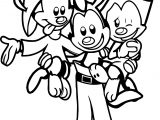 Animaniacs Warner Siblings Coloring Page