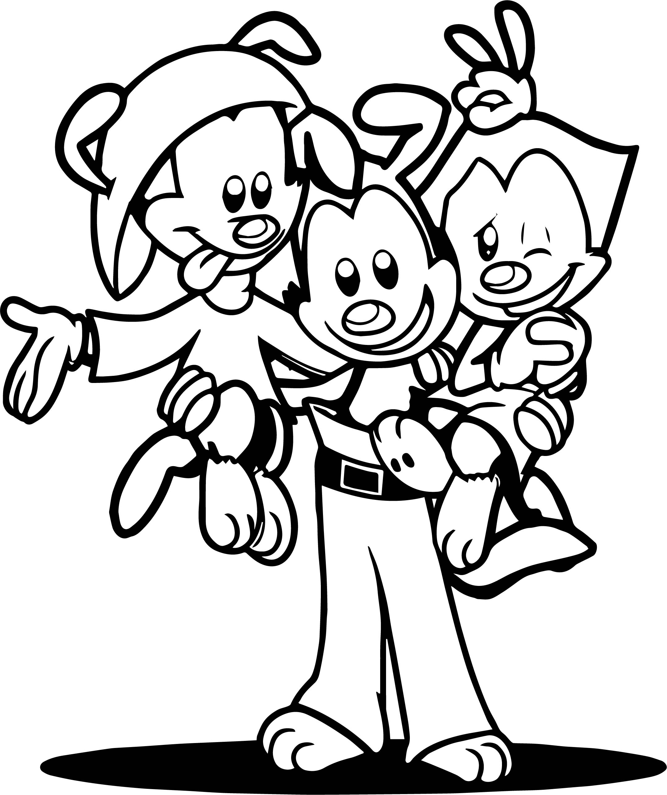 Animaniacs warner siblings coloring page for Animaniacs coloring pages