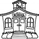 Any School House Coloring Page