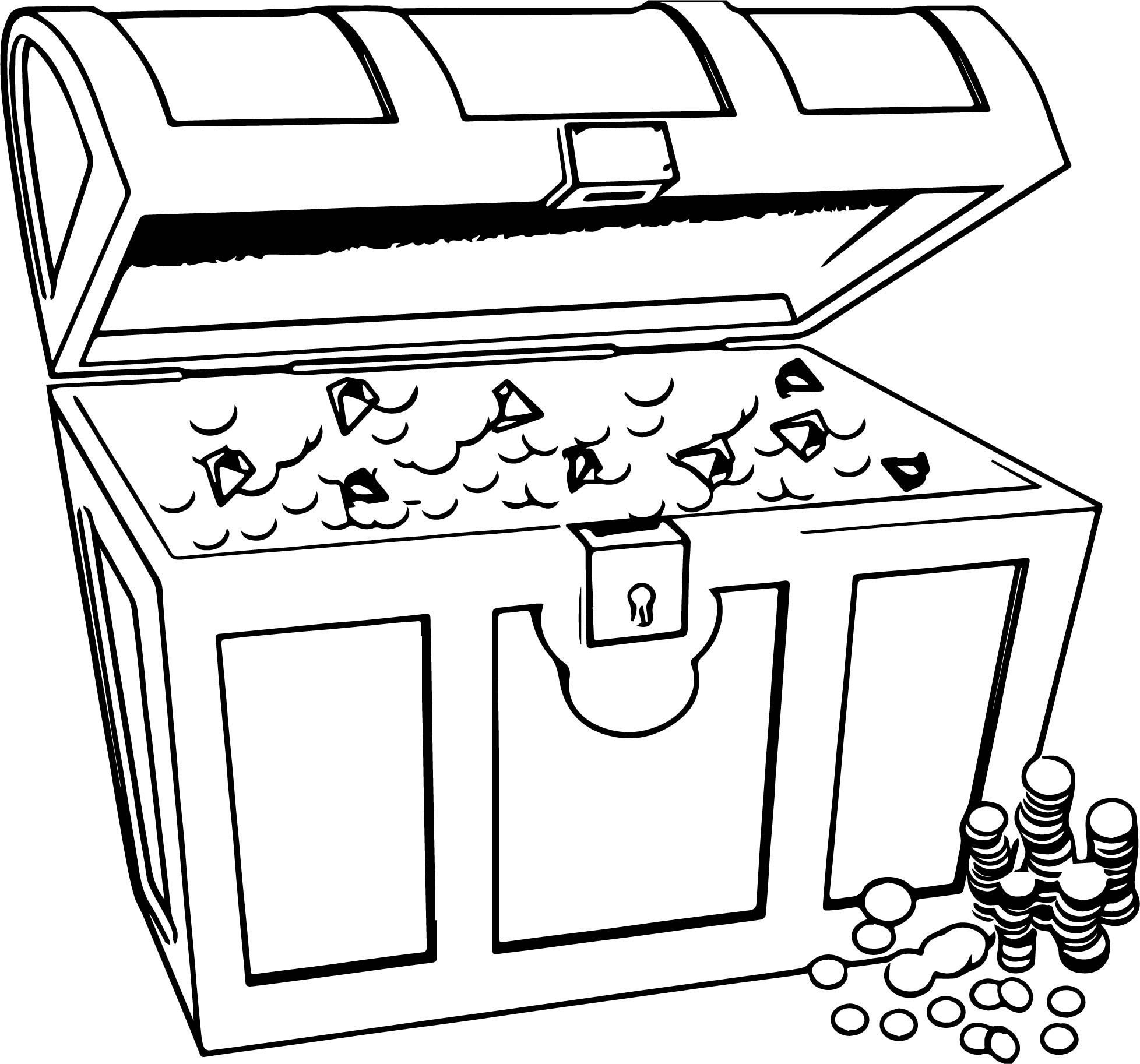 any treasur chest money coloring page