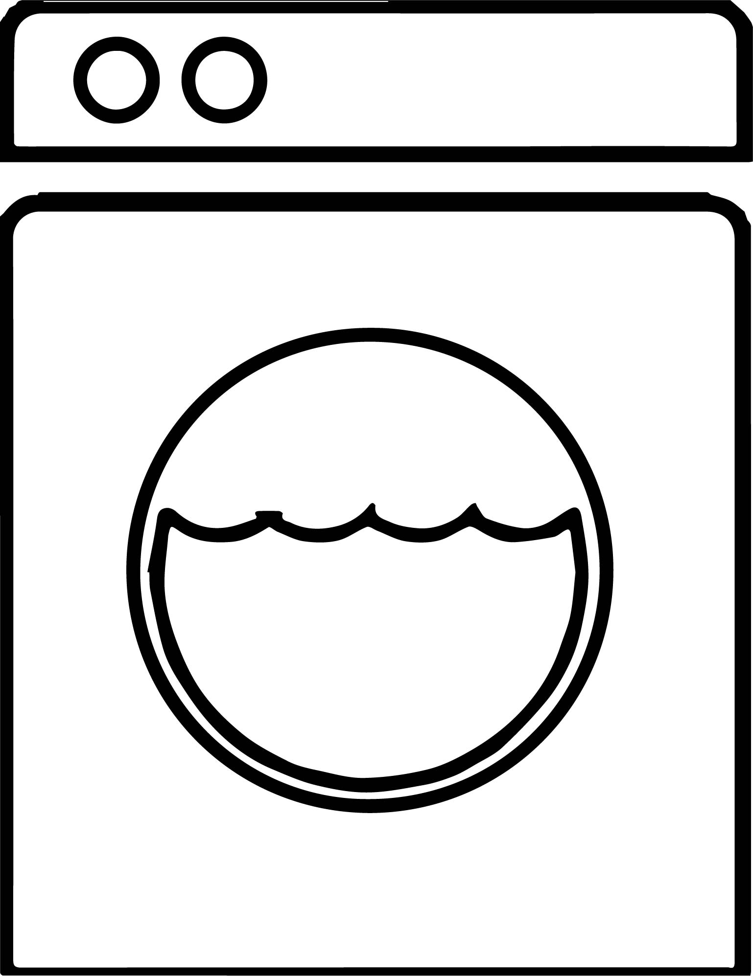 Any Washing Machine Coloring Page