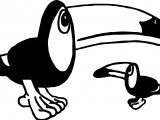 Any Word Toucan Coloring Page