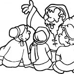 Apostle Paul And Kids Coloring Page
