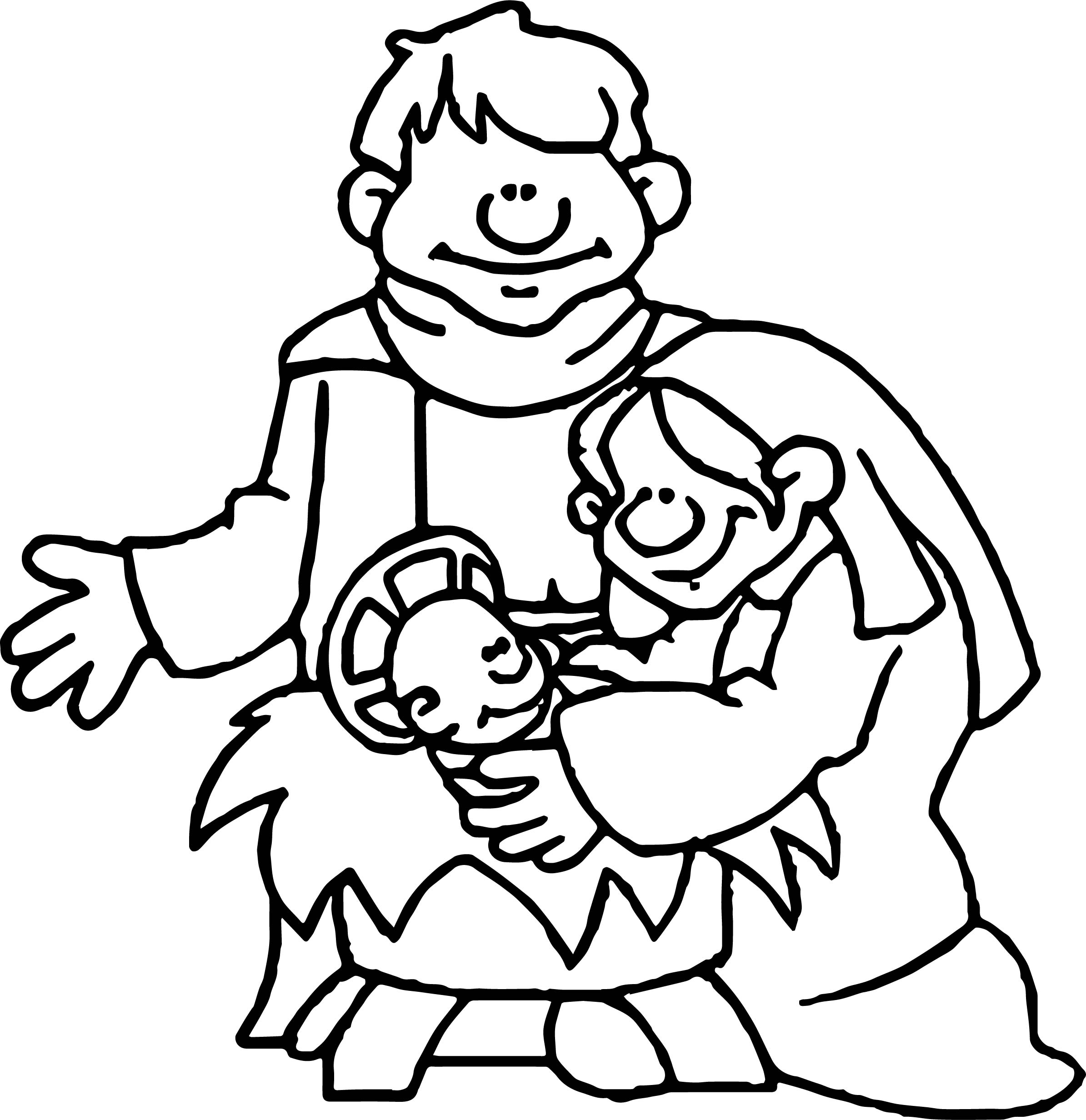 Apostle paul family baby coloring page for Apostle paul coloring page