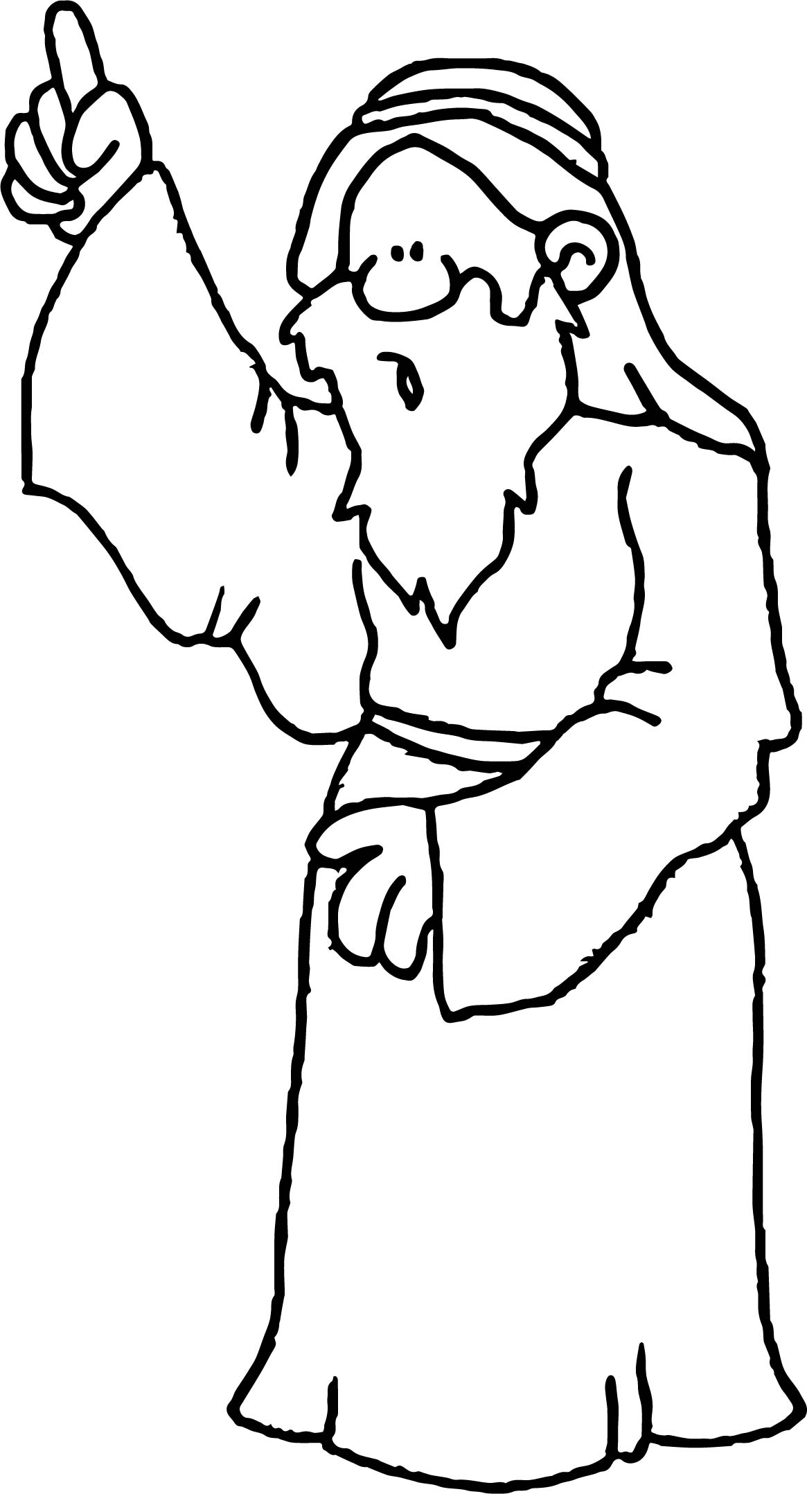 Apostle Paul Look Coloring Page