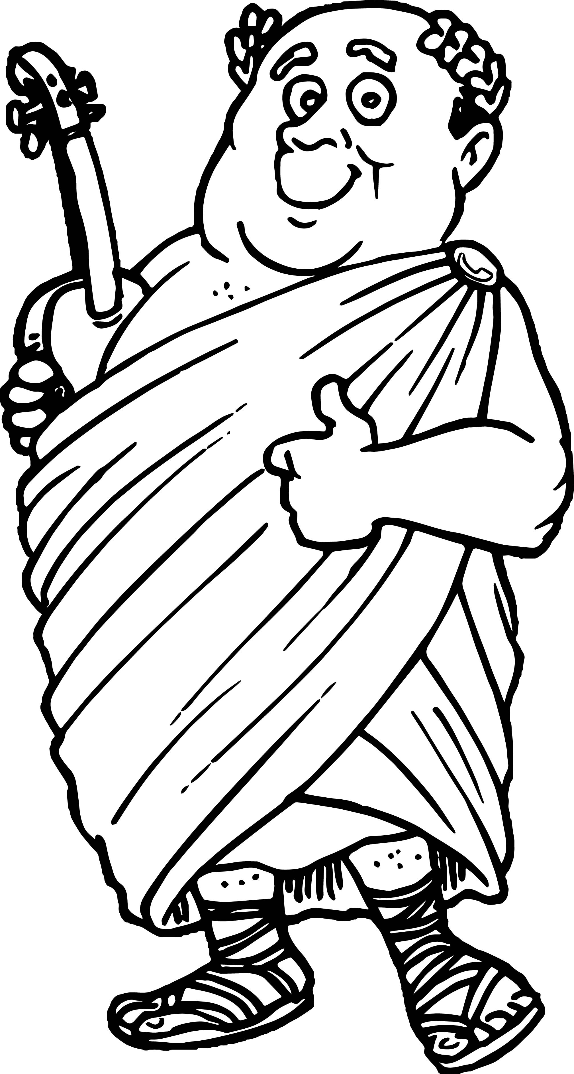 Apostle Paul Music Coloring Page