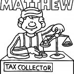Apostle Paul Tax Collector Coloring Page