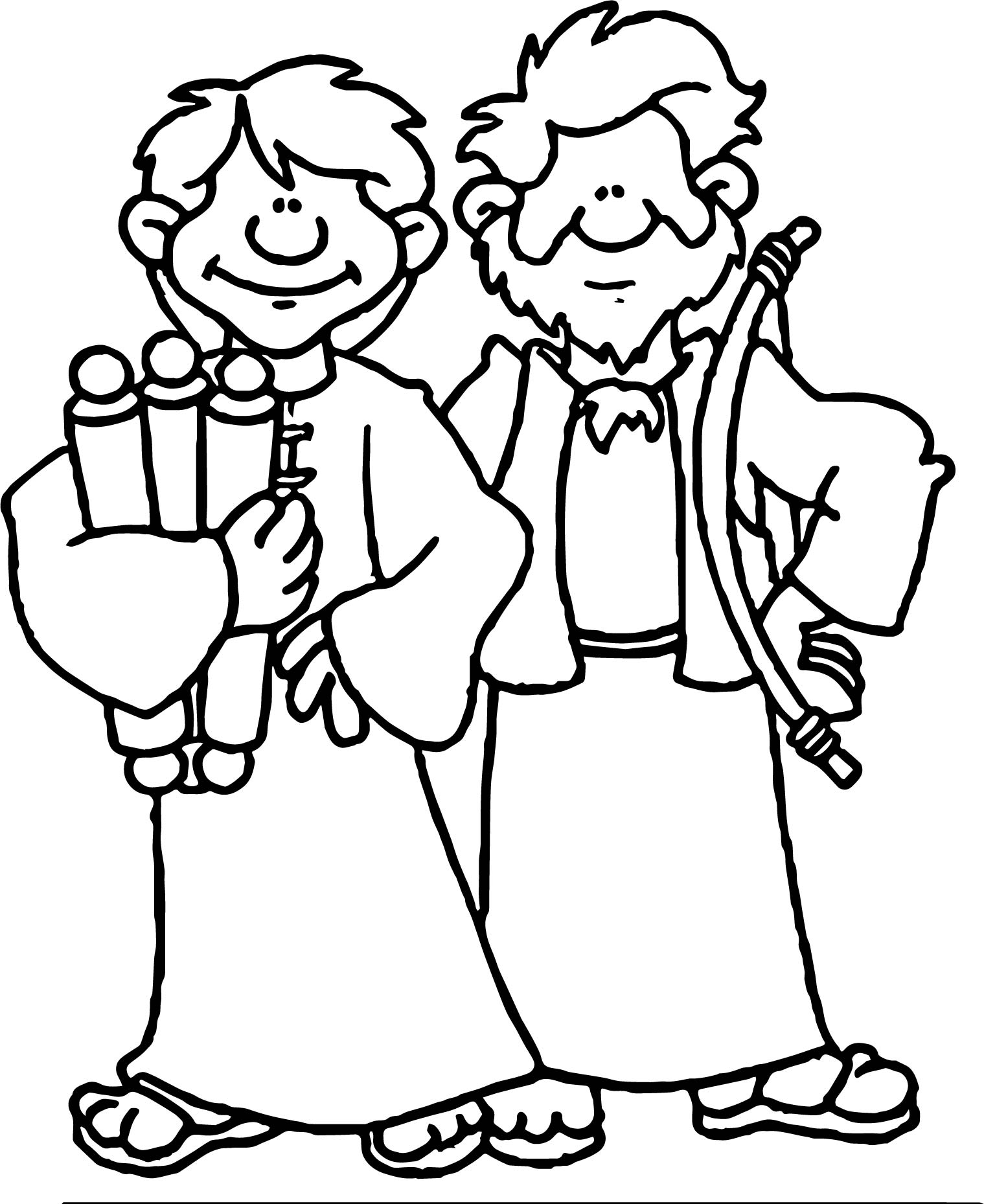 Apostle Paul Two People Coloring Page