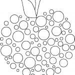 Apple Polka Dot Coloring Page