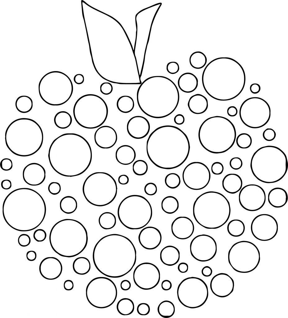 Apple Polka Dot Coloring Page | Wecoloringpage.com